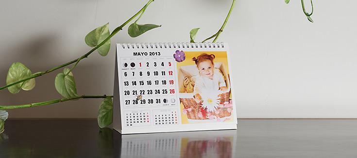 Calendario de Sobremesa - Tamaño 21x14,8 cm
