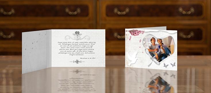 Imprenta > Productos de Imprenta > Bodas Díptico 148x102mm
