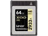 XQD CARD 64GB 2933X PROF INCL XQD 2.0 USB 3.0 LECTOR
