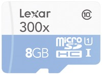 MICROSDHC HIGH SPEED 8GB SIN ADAPTADOR CLASE 10 300X
