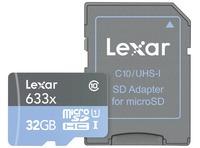 MICROSDHC 633X UHS-I 32GB CON ADAPTADOR