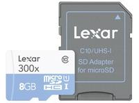 MICROSDHC HIGH SPEED 8GB CON ADAPTADOR CLASE 10 300X
