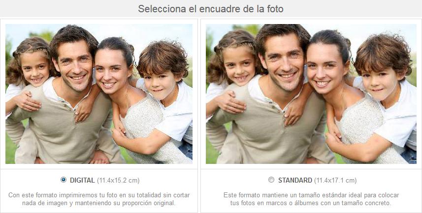 Revelado de fotos formatos fotoprix for Revelado de fotos barato