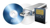 Fotos de tarjetas digitales o CD's