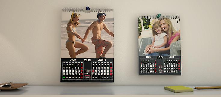 Calendarios - Pared con Espiral