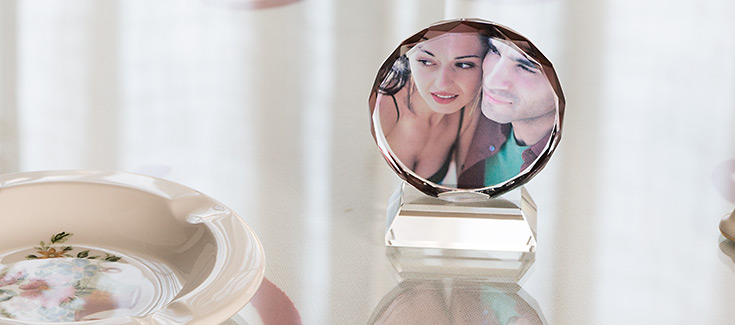Cristal Circular 6 cm -