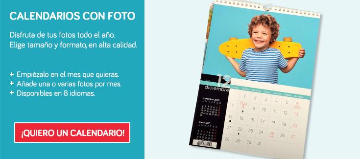 Disfruta de los tuyos todo el año. - Preciosos calendarios con tus fotos.