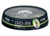 1X10 TDK DVD+RW 4,7GB 4X SPEED, BOBINA