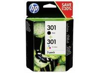 HP N9J72AE COMBO PACK DE 2 BK/COLOR NR. 301