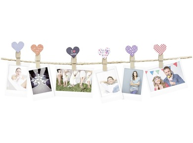 INSTAX DESIGN CLIPS 10-PACK HEART